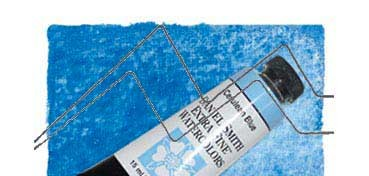 DANIEL SMITH EXTRA FINE WATERCOLOR TUBO CERULEAN BLUE (AZUL CERÚLEO), PIGMENTO: PB 35, SERIE 3 Nº 206