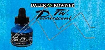 DALER ROWNEY TINTA ACRÍLICA LÍQUIDA FW PEARLESCENT GALACTIC BLUE Nº 112