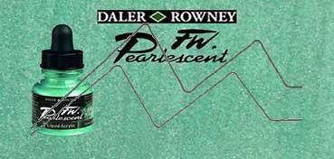 DALER ROWNEY TINTA ACRÍLICA LÍQUIDA FW PEARLESCENT WATERFALL GREEN Nº 124