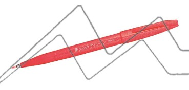 PENTEL TOUCH SIGN PEN PUNTA PINCEL - ROJO