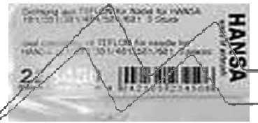 JUNTA TEFLÓN PARA AGUJA (3 UDS.) HANSA  H223450
