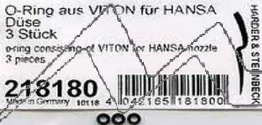 """ANILLO """"O"""" PARA BOQUILLA FLOTANTES-VITON (3 UDS.) HANSA H218180"""