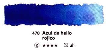 SCHMINCKE HORADAM ACUARELA ARTIST GODET COMPLETO AZUL DE HELIO ROJIZO SERIE 2 Nº 478