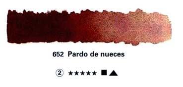 SCHMINCKE HORADAM ACUARELA ARTIST GODET COMPLETO PARDO DE NUECES SERIE 2 Nº 652