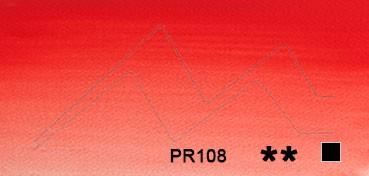 WINSOR & NEWTON ACUARELA ARTISTS TUBO ROJO DE CADMIO OSCURO (CADMIUM RED DEEP) SERIE 4 Nº 097