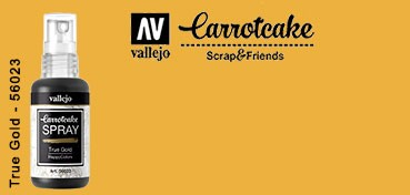 VALLEJO CARROTCAKE PINTURA EN SPRAY PARA SCRAPBOOKING TRUE GOLD Nº 023