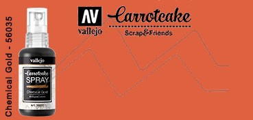 VALLEJO CARROTCAKE PINTURA EN SPRAY PARA SCRAPBOOKING CHEMICAL GOLD Nº 035