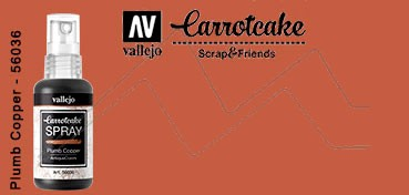 VALLEJO CARROTCAKE PINTURA EN SPRAY PARA SCRAPBOOKING PLUMB COPPER Nº 035