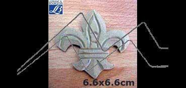 LEFRANC & BOURGEOIS SILUETA DECO 3D FLOR DE LIS (6.6 X 6.6 X 0.5 CM)