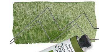 DANIEL SMITH EXTRA FINE WATERCOLOR TUBO CHROMIUM GREEN OXIDE (VERDE ÓXIDO DE CROMO), PIGMENTO: PG 17, SERIE 1 Nº 24
