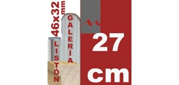 LISTÓN GALERÍA 3D (46 X 32) - 27 CM