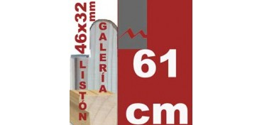 LISTÓN GALERÍA 3D (46 X 32) - 61 CM