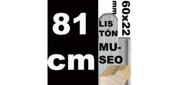 LISTÓN MUSEO (60 X 22) - 81 CM