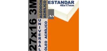 BASTIDOR ESTUDIO 46 X 17 ALGODÓN Nº2 (GRANO FINO) 27 X 16 3M (ÓLEO/ACRÍLICO)