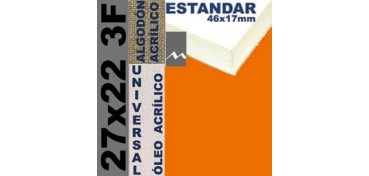 BASTIDOR ESTUDIO 46 X 17 ALGODÓN Nº2 (GRANO FINO) 27 X 22 3F (ÓLEO/ACRÍLICO)
