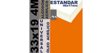 BASTIDOR ESTUDIO 46 X 17 ALGODÓN Nº2 (GRANO FINO) 33 X 19 4M (ÓLEO/ACRÍLICO)
