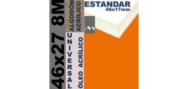 BASTIDOR ESTUDIO 46 X 17 ALGODÓN Nº2 (GRANO FINO) 46 X 27 8M (ÓLEO/ACRÍLICO)