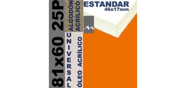 BASTIDOR ESTUDIO 46 X 17 ALGODÓN Nº2 (GRANO FINO) 81 X 60 25P (ÓLEO/ACRÍLICO)