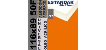 BASTIDOR ESTUDIO 46 X 17 ALGODÓN Nº2 (GRANO FINO) 116 X 89 50F (ÓLEO/ACRÍLICO)