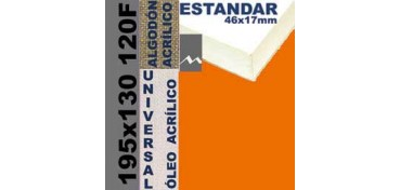 BASTIDOR ESTUDIO 46 X 17 ALGODÓN Nº2 (GRANO FINO) 195 X 130 120F (ÓLEO/ACRÍLICO)