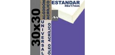 BASTIDOR ESTUDIO 46 X 17 ALGODÓN Nº2 (GRANO FINO) 30 X 30 (ÓLEO/ACRÍLICO)
