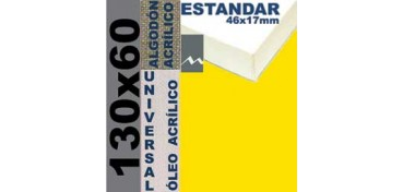 BASTIDOR ESTUDIO 46 X 17 ALGODÓN Nº2 (GRANO FINO) 130 X 60 (ÓLEO/ACRÍLICO)