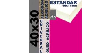 BASTIDOR ESTUDIO 46 X 17 ALGODÓN Nº2 (GRANO FINO) 40 X 30 (ÓLEO/ACRÍLICO)