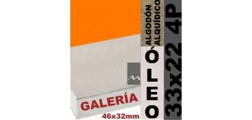 BASTIDOR GALERÍA 3D 46 X 32 ALGODÓN Nº2 (GRANO FINO) 33 X 22 4P (ÓLEO)