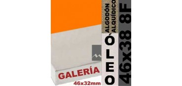 BASTIDOR GALERÍA 3D 46 X 32 ALGODÓN Nº2 (GRANO FINO) 46 X 38 8F (ÓLEO)