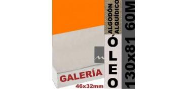 BASTIDOR GALERÍA 3D 46 X 32 ALGODÓN Nº2 (GRANO FINO) 130 X 81 60M (ÓLEO)