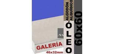 BASTIDOR GALERÍA 3D 46 X 32 ALGODÓN Nº2 (GRANO FINO) 60 X 60 (ÓLEO)