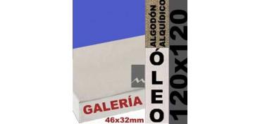 BASTIDOR GALERÍA 3D 46 X 32 ALGODÓN Nº2 (GRANO FINO) 120 X 120 (ÓLEO)