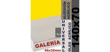 BASTIDOR GALERÍA 3D 46 X 32 ALGODÓN Nº2 (GRANO FINO) 140 X 70 (ÓLEO/ACRÍLICO)