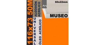 BASTIDOR MUSEO 60 X 22 ALGODÓN Nº2 (GRANO FINO) 116 X 73 50M (ÓLEO/ACRÍLICO)
