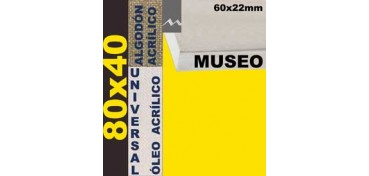 BASTIDOR MUSEO 60 X 22 ALGODÓN Nº2 (GRANO FINO) 80 X 40 (ÓLEO/ACRÍLICO)