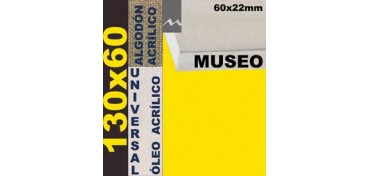 BASTIDOR MUSEO 60 X 22 ALGODÓN Nº2 (GRANO FINO) 130 X 60 (ÓLEO/ACRÍLICO)