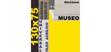 BASTIDOR MUSEO 60 X 22 ALGODÓN Nº2 (GRANO FINO) 130 X 75 (ÓLEO/ACRÍLICO)
