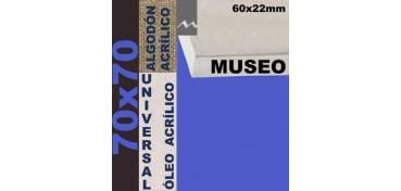 BASTIDOR MUSEO 60 X 22 ALGODÓN Nº2 (GRANO FINO) 70 X 70 (ÓLEO/ACRÍLICO)
