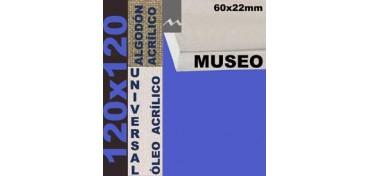 BASTIDOR MUSEO 60 X 22 ALGODÓN Nº2 (GRANO FINO) 120 X 120 (ÓLEO/ACRÍLICO)