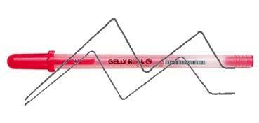SAKURA GELLY ROLL MOONLIGHT BOLÍGRAFO DE GEL BRILLO EN LA OSCURIDAD BERMELLÓN FLUORESCENTE - FLUO VERMILION - Nº 418