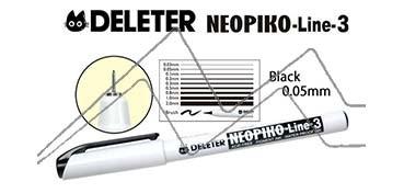 DELETER NEOPIKO LINE-3 ROTULADOR CALIBRADO NEGRO 0.05 MM