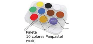 PANPASTEL BANDEJA PLÁSTICO VACIA CON CAPACIDAD PARA 10 UNIDADES