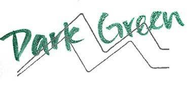 KURETAKE ZIG WINK OF STELLA BRUSH GLITTER ROTULADOR PINCEL DARK GREEN Nº 042