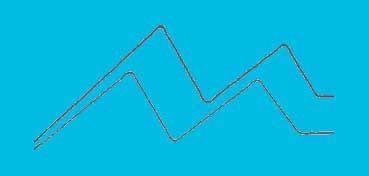DECOART GLASS PAINT MARKERS - ROTULADORES AL AGUA PARA VIDRIO Y PORCELANA - TURQUESA (TURQUOISE) DGPM10