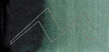 MIJELLO ACUARELA ARTIST MISSION GOLD CLASS VERDE SOMBRA - SHADOW GREEN ( PG7, PBK7 - LF.5 -  SEMI OPACO) SERIE B Nº 583