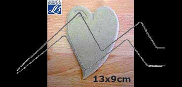 LEFRANC & BOURGEOIS SILUETA DECO 3D CORAZON (13 X 9 X 0.5 CM)
