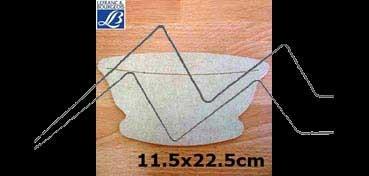 LEFRANC & BOURGEOIS SILUETA DECO 3D CUENCO (11.5 X 22.5 X 0.5 CM)