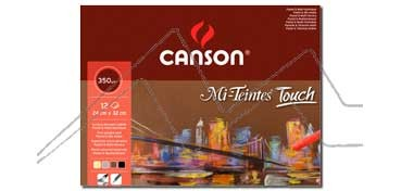 CANSON MI-TEINTES TOUCH BLOC 350 G 12 HOJAS - 4 COLORES SURTIDOS