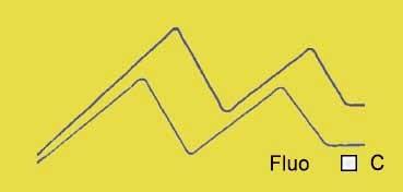 VALLEJO ACRYLIC ARTIST FLUID COLORS AMARILLO FLUORESCENTE - FLUORESCENT YELLOW SERIE 600 Nº 616