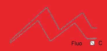 VALLEJO ACRYLIC ARTIST FLUID COLORS ROJO FLUORESCENTE - FLUORESCENT RED SERIE 600 Nº 619